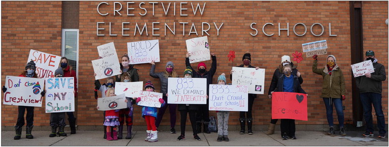 Cottage  Grove  rally to  'Save  Crestview'