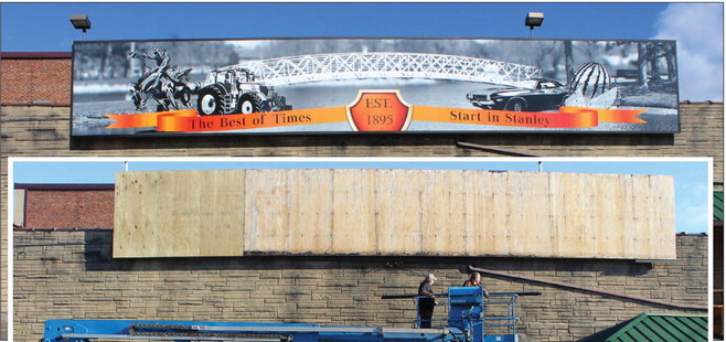 Hansen's IGA gets new mural in time for Fall