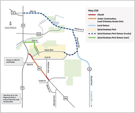 Highway 316 project combines last phases to expedite completion